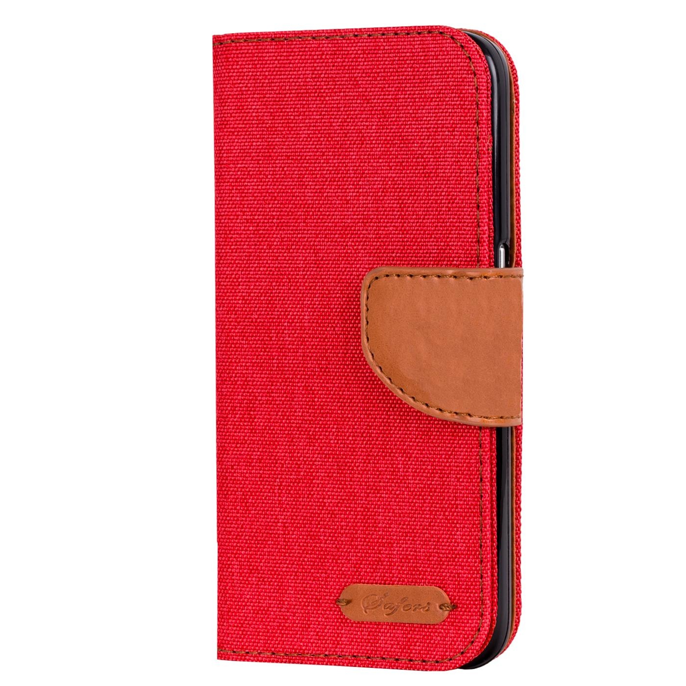 Apple-iPhone-5-5s-SE-Phone-PU-Leather-Magnetic-Flip-Case-Wallet-Denim-Cover-Slim thumbnail 13