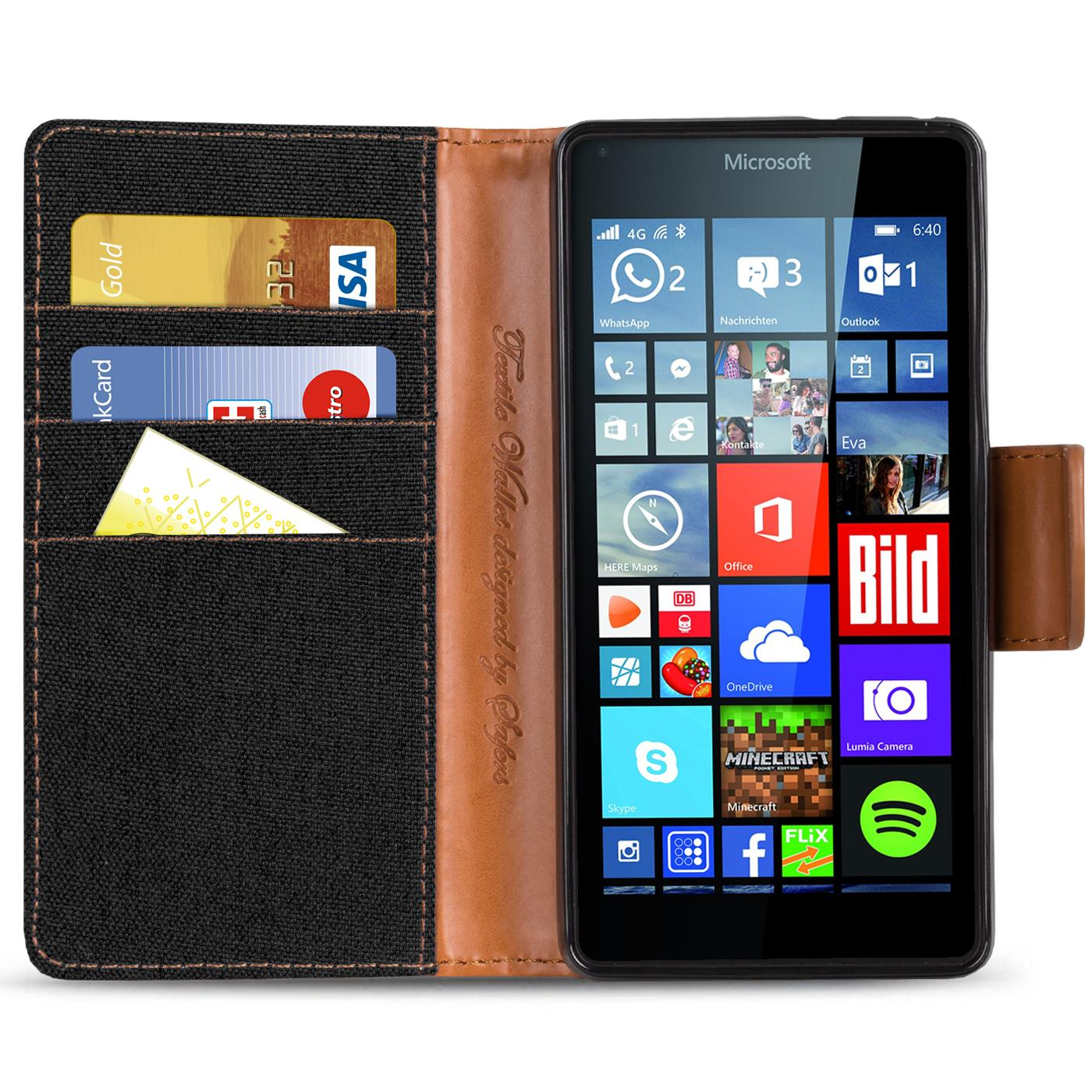Microsoft-Lumia-640-XL-Phone-PU-Leather-Magnetic-Flip-Case-Wallet-Denim-Cover thumbnail 7