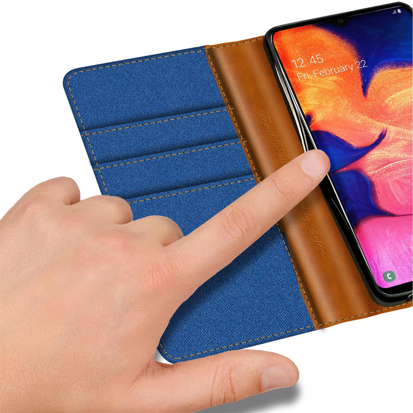 Handy-Huelle-Samsung-Galaxy-A10-Tasche-Wallet-Flip-Case-Schutz-Huelle-Stoff-Cover Indexbild 19