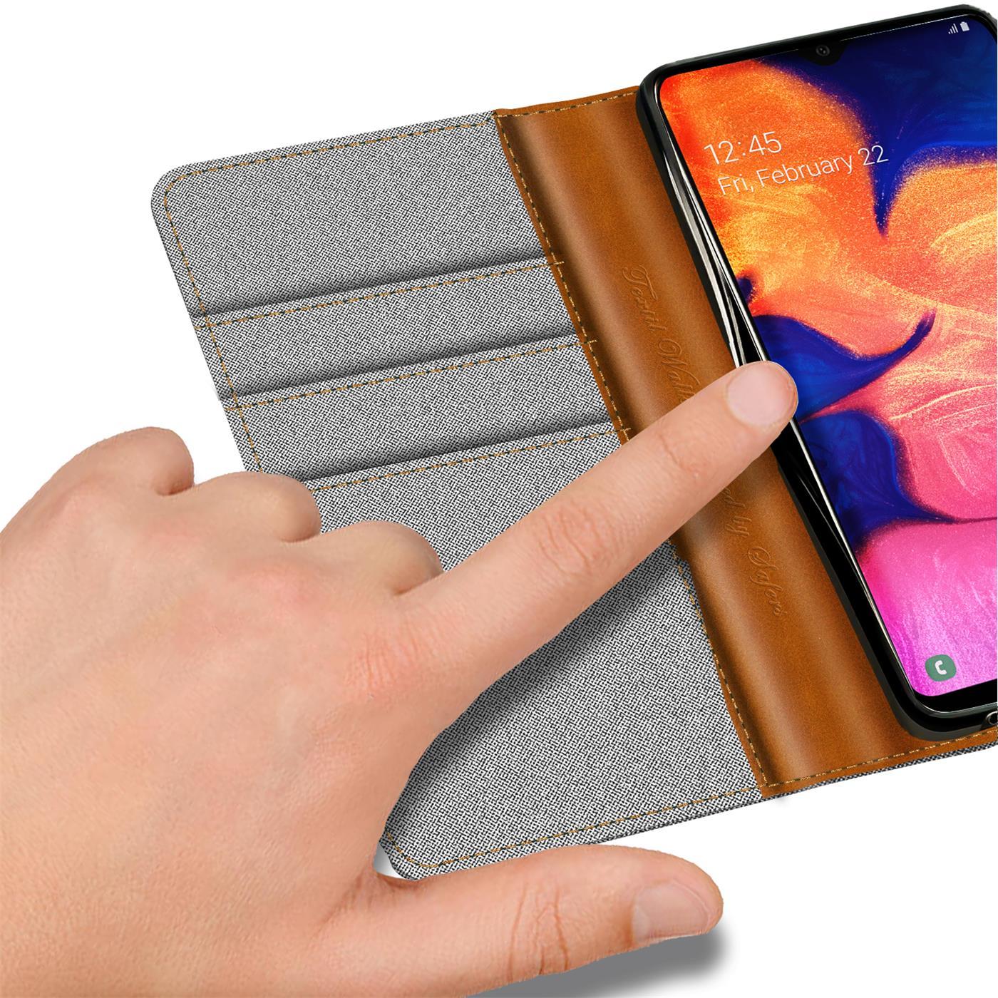Handy-Huelle-Samsung-Galaxy-A10-Tasche-Wallet-Flip-Case-Schutz-Huelle-Stoff-Cover Indexbild 13