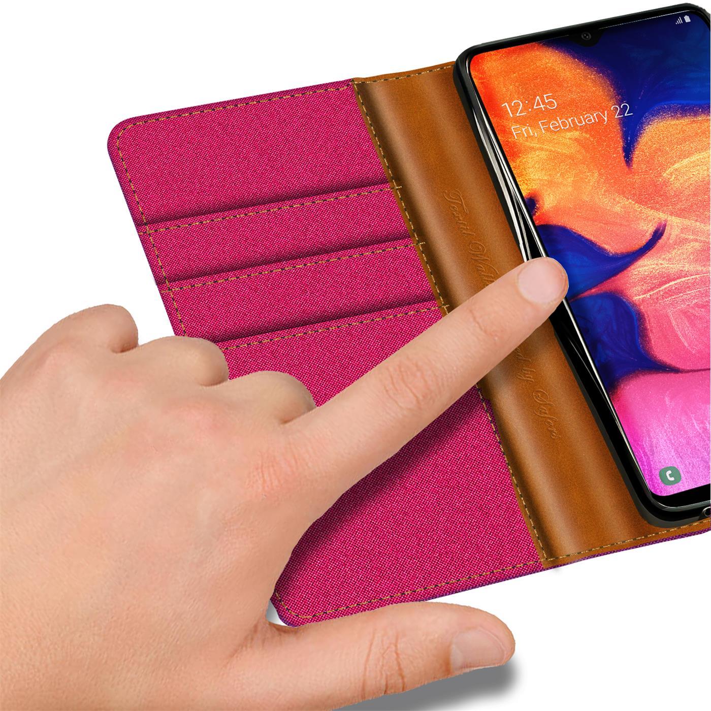 Handy-Huelle-Samsung-Galaxy-A10-Tasche-Wallet-Flip-Case-Schutz-Huelle-Stoff-Cover Indexbild 16