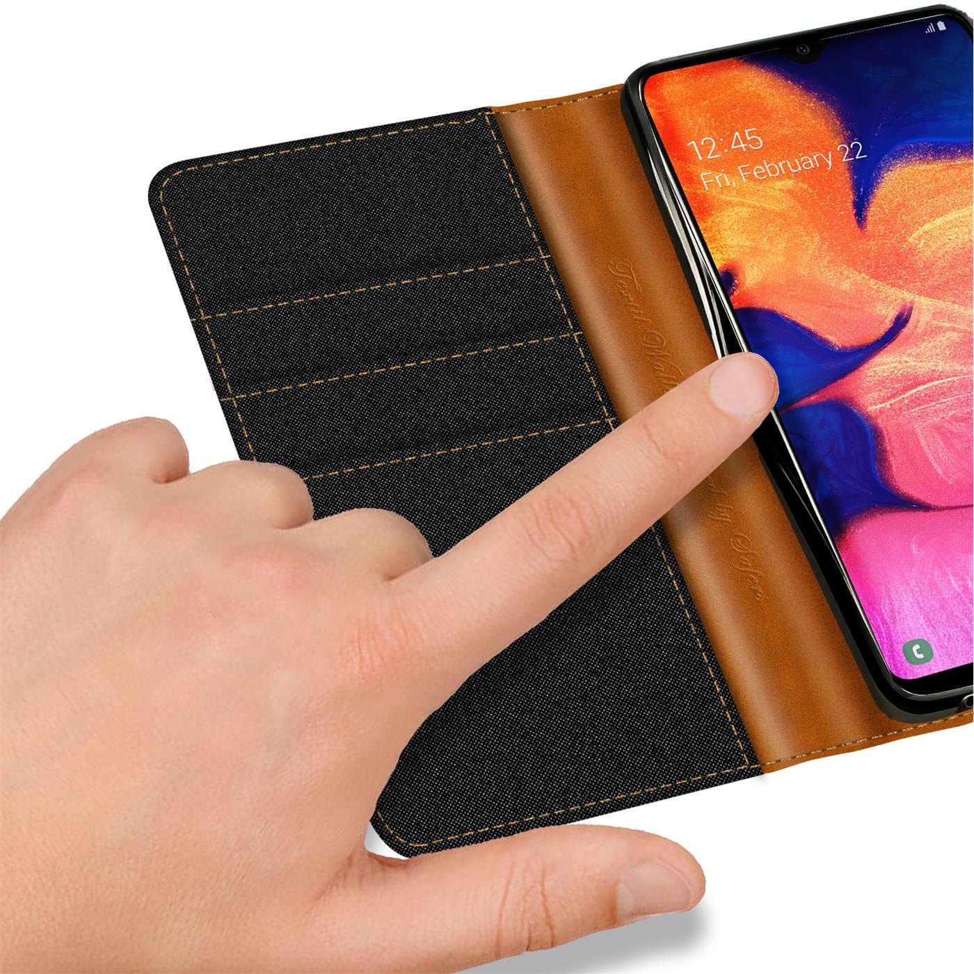 Handy-Huelle-Samsung-Galaxy-A10-Tasche-Wallet-Flip-Case-Schutz-Huelle-Stoff-Cover Indexbild 10