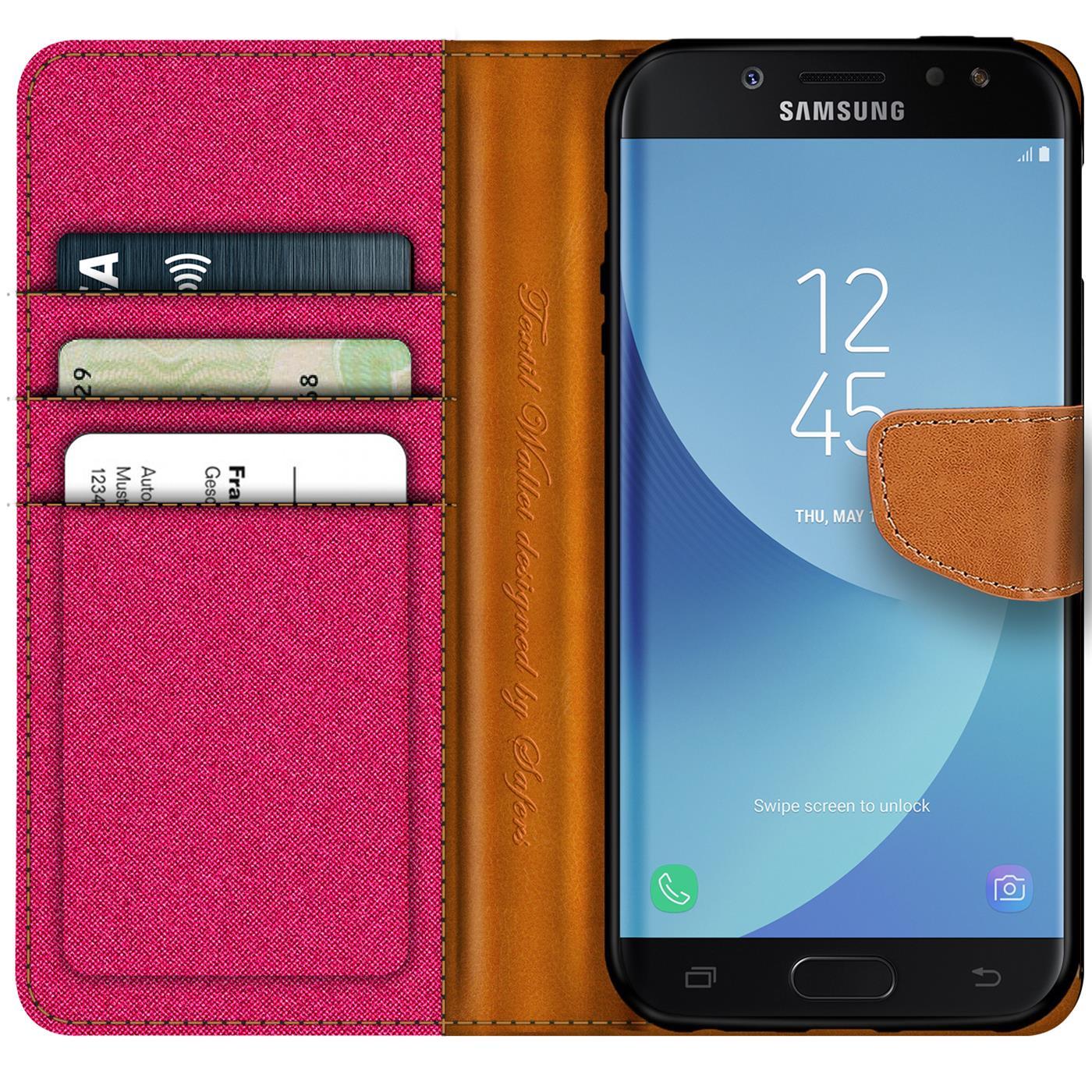 Indexbild 12 - Handy Hülle für Samsung Galaxy J3 2017 Tasche Etui Flip Case Schutz Hülle Cover