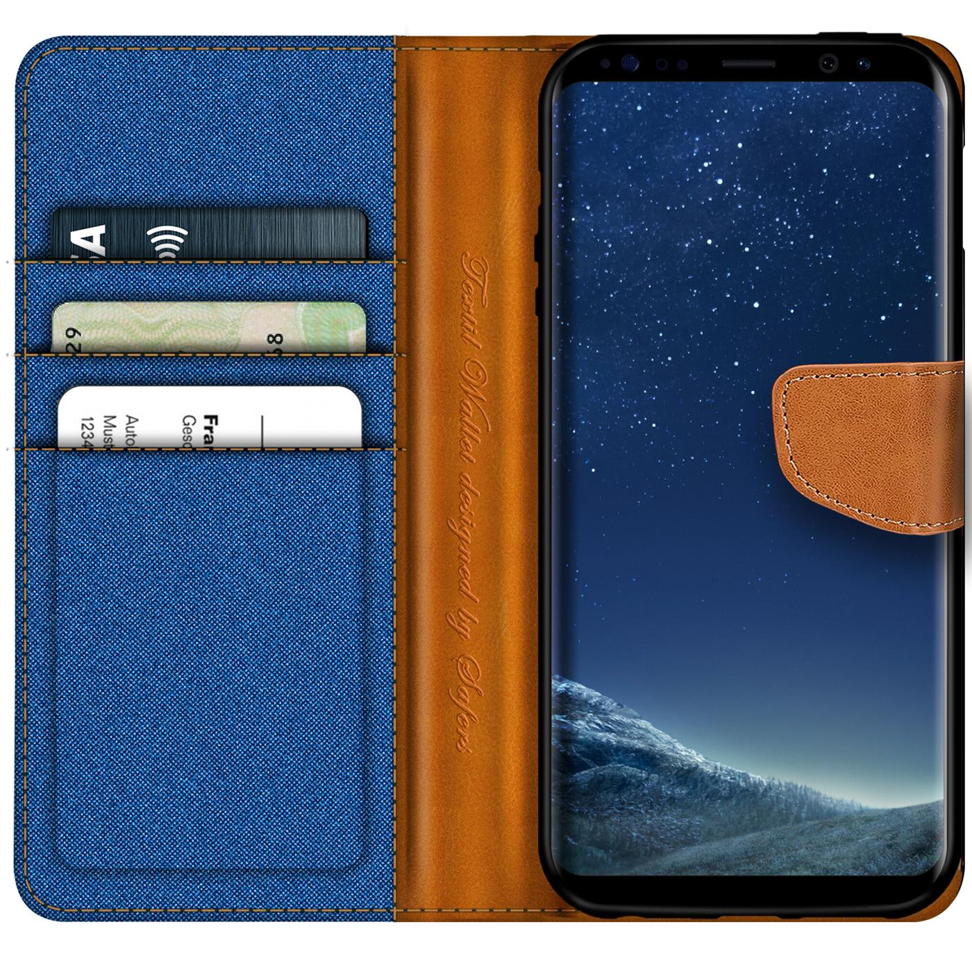 Samsung-Galaxy-S8-Plus-Phone-PU-Leather-Magnetic-Flip-Case-Wallet-Denim-Cover thumbnail 23