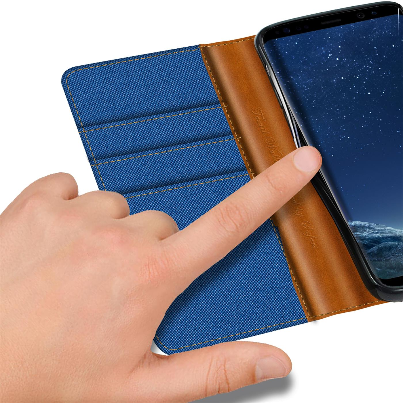 Samsung-Galaxy-S8-Plus-Phone-PU-Leather-Magnetic-Flip-Case-Wallet-Denim-Cover thumbnail 24