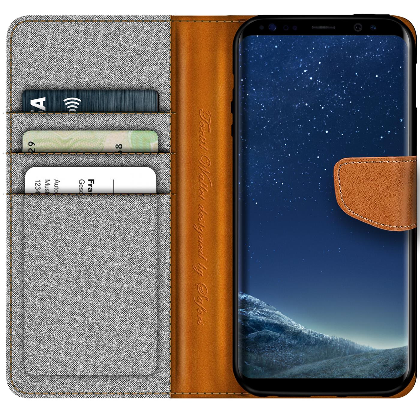 Samsung-Galaxy-S8-Plus-Phone-PU-Leather-Magnetic-Flip-Case-Wallet-Denim-Cover thumbnail 11