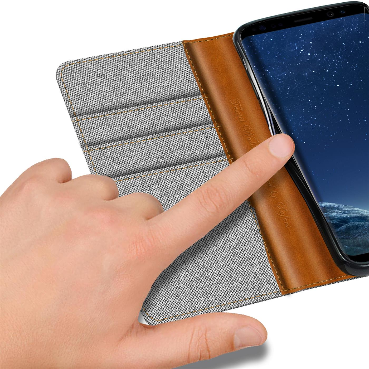 Samsung-Galaxy-S8-Plus-Phone-PU-Leather-Magnetic-Flip-Case-Wallet-Denim-Cover thumbnail 12