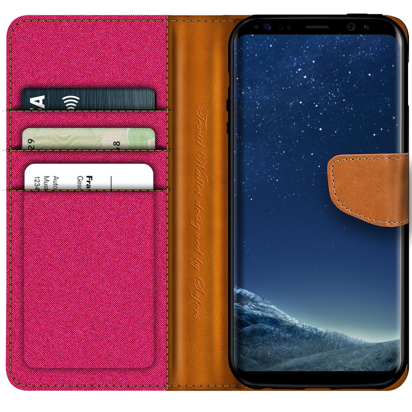 Samsung-Galaxy-S8-Plus-Phone-PU-Leather-Magnetic-Flip-Case-Wallet-Denim-Cover thumbnail 19