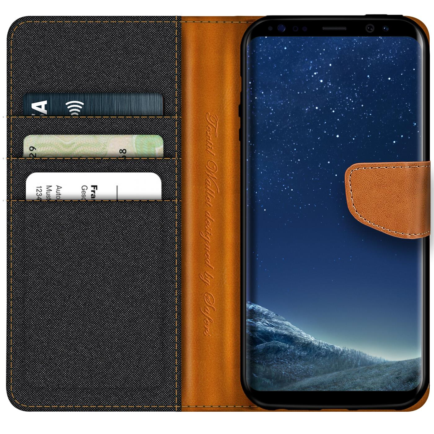 Samsung-Galaxy-S8-Plus-Phone-PU-Leather-Magnetic-Flip-Case-Wallet-Denim-Cover thumbnail 7