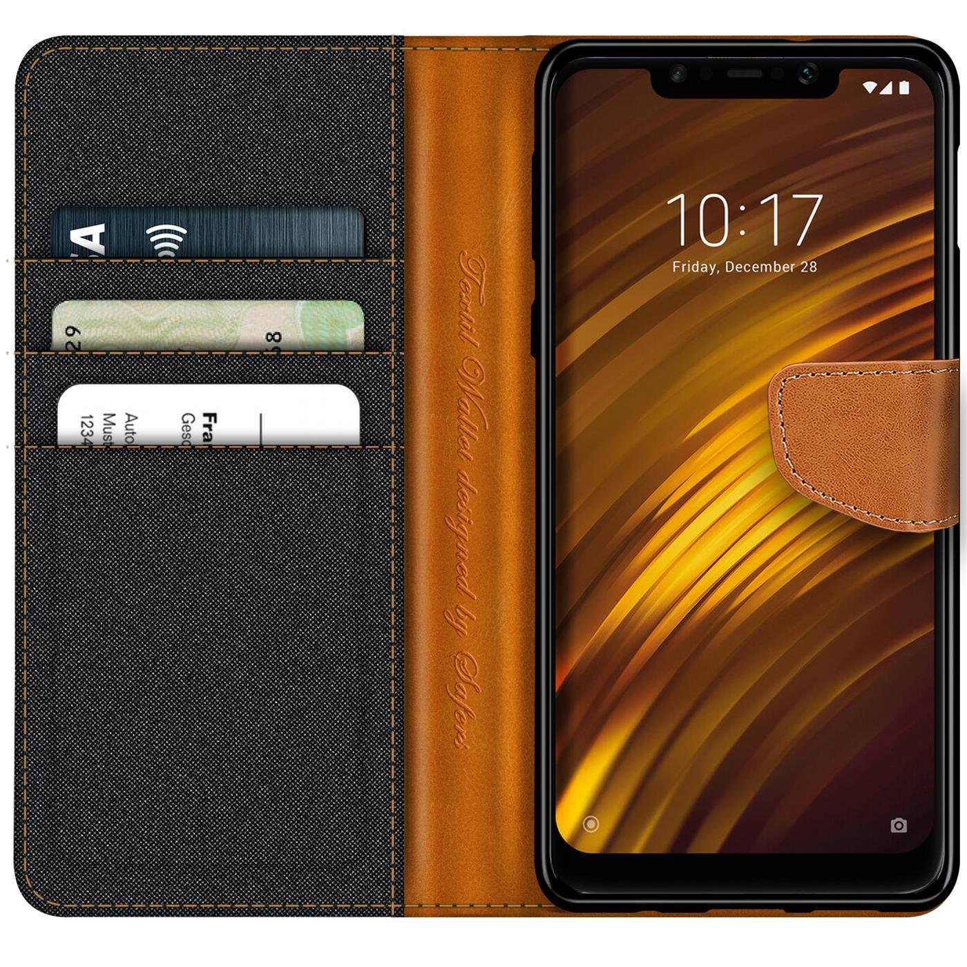 Indexbild 9 - Handy-Huelle-fuer-Xiaomi-Pocophone-F1-Tasche-Wallet-Flip-Case-Schutz-Huelle-Cover