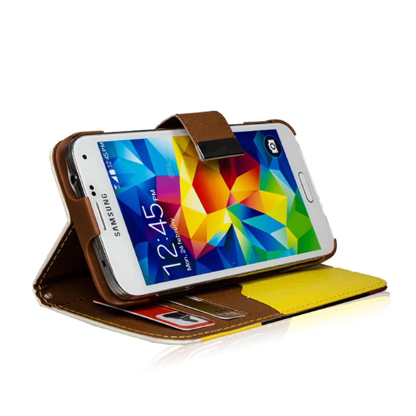 Wallet-Huelle-Samsung-Galaxy-s6-Case-Magnetic-Flip-PU-Leder-Halter-Huelle-Bag Indexbild 9