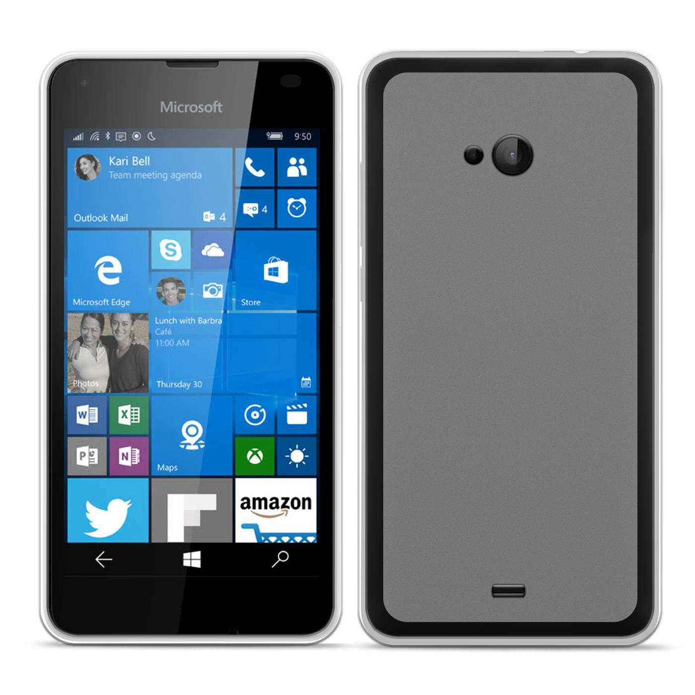 TPU Hülle Microsoft Nokia Handy Schutz Case Silikon Cover Tasche Rückschale Etui