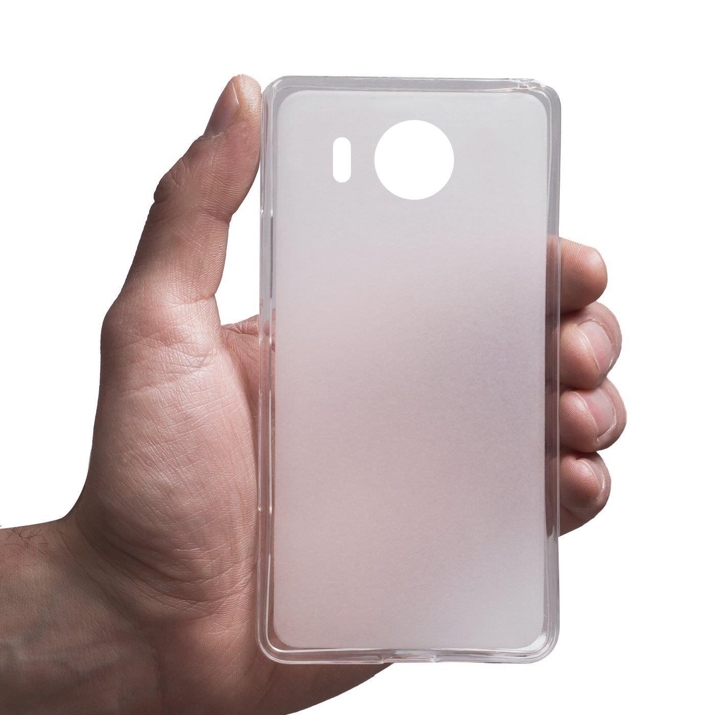 Microsoft-Lumia-950-XL-Shockproof-Silikon-Klar-Case-Duenn-Cover-Ultra-Slim-Back Indexbild 12