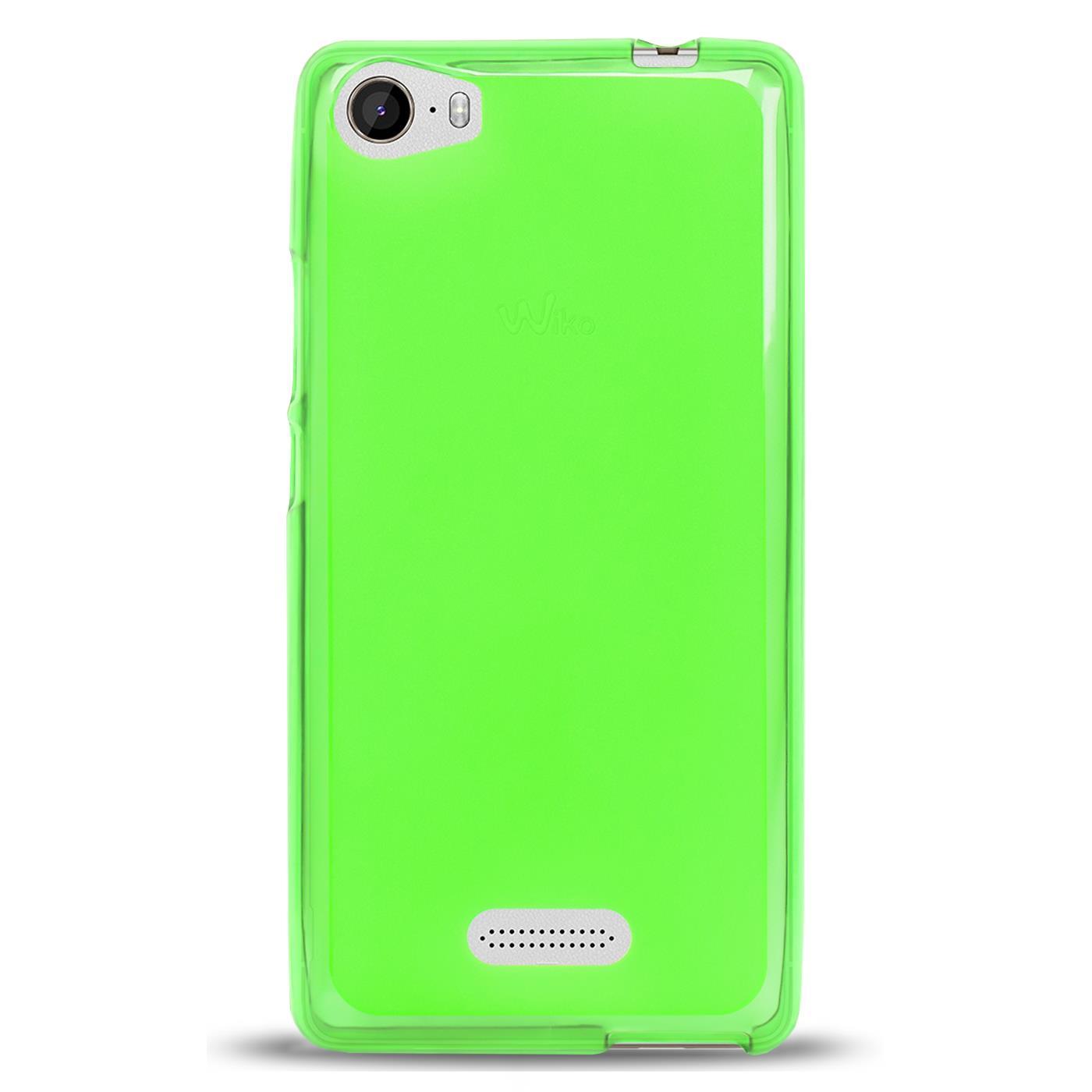 Duenn-Slim-Cover-Wiko-Fever-Handy-Huelle-Silikon-Case-Schutz-Tasche-Bumper-Gruen Indexbild 3