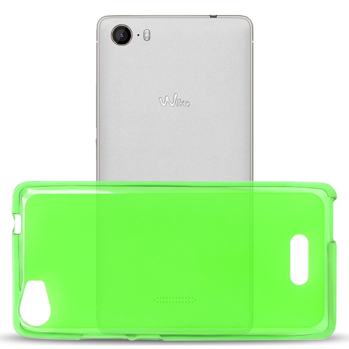 Duenn-Slim-Cover-Wiko-Fever-Handy-Huelle-Silikon-Case-Schutz-Tasche-Bumper-Gruen Indexbild 4