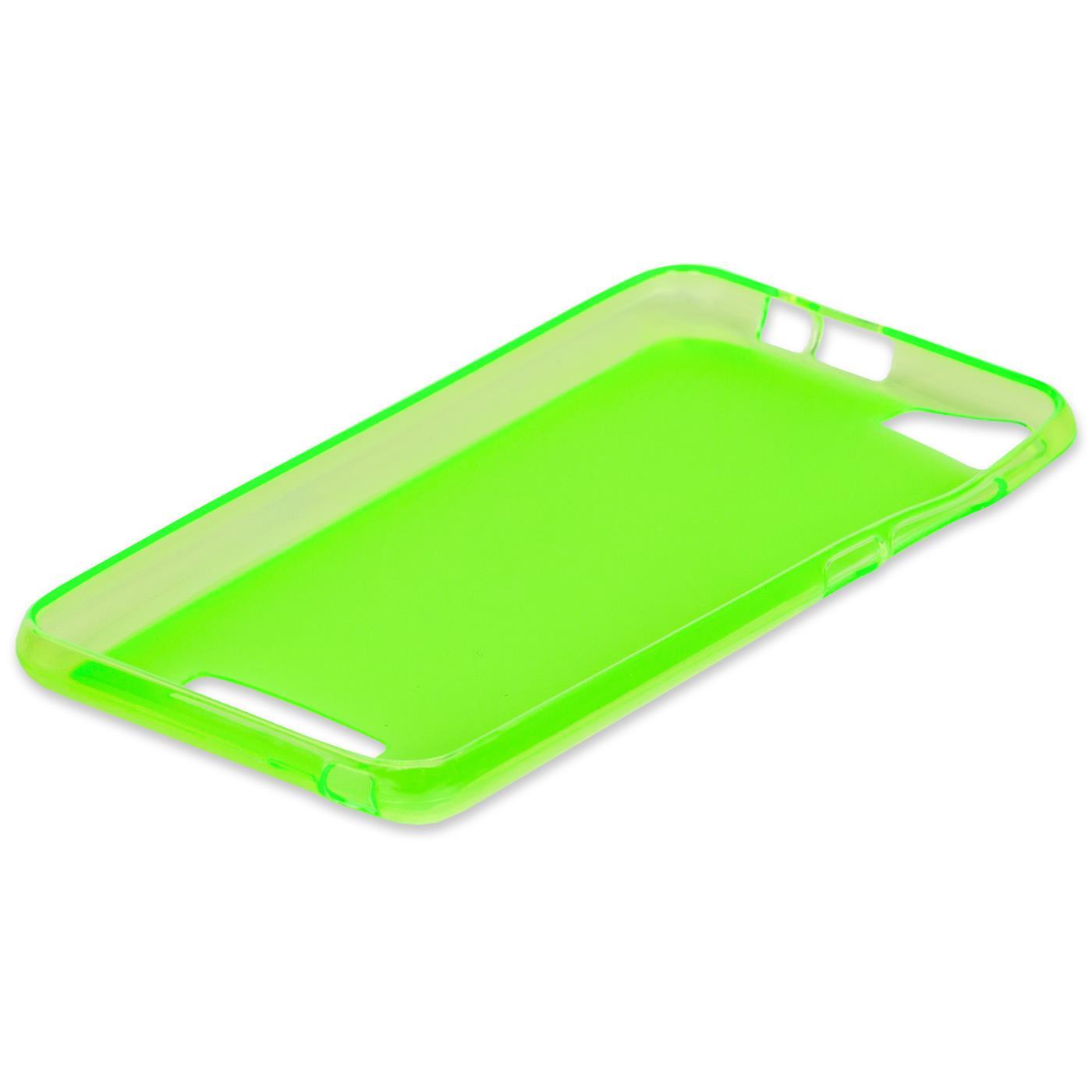 Duenn-Slim-Cover-Wiko-Fever-Handy-Huelle-Silikon-Case-Schutz-Tasche-Bumper-Gruen Indexbild 5