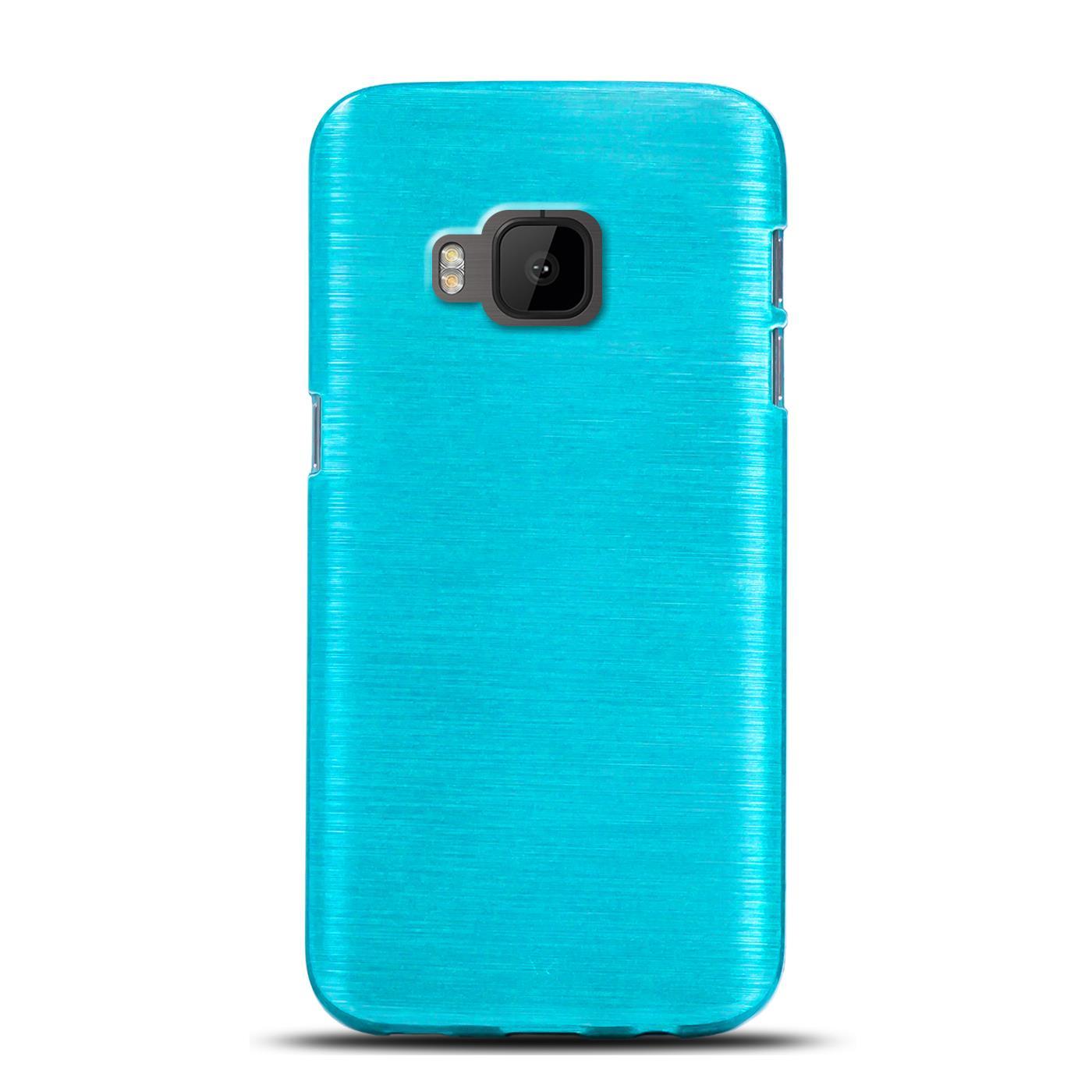 Silikon Schutz Tasche HTC Handy Hülle Slim Case Cover TPU Glitzer Bumper Etui