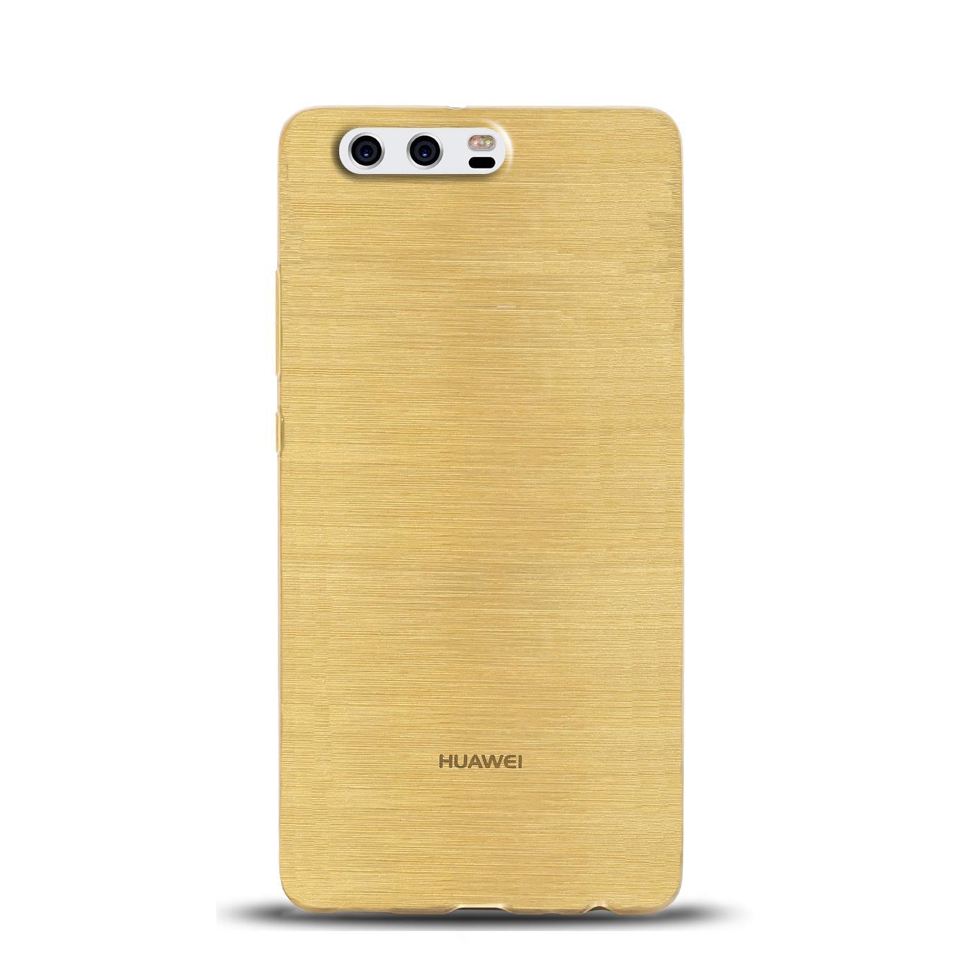 Silikon Rückschale Huawei Handy Schutz Hülle Tasche Cover Case Glitzer Bumper