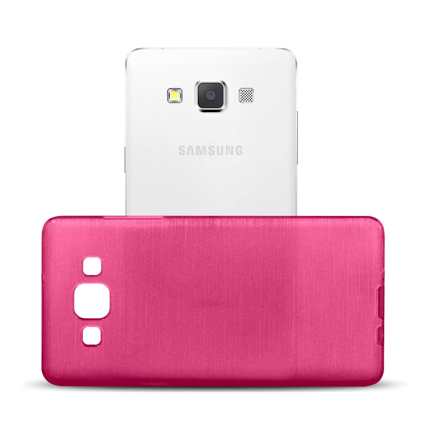 Silikon-Bumper-Case-Samsung-Galaxy-a5-2015-Ultra-Slim-Stossfeste-Rueckschale Indexbild 16