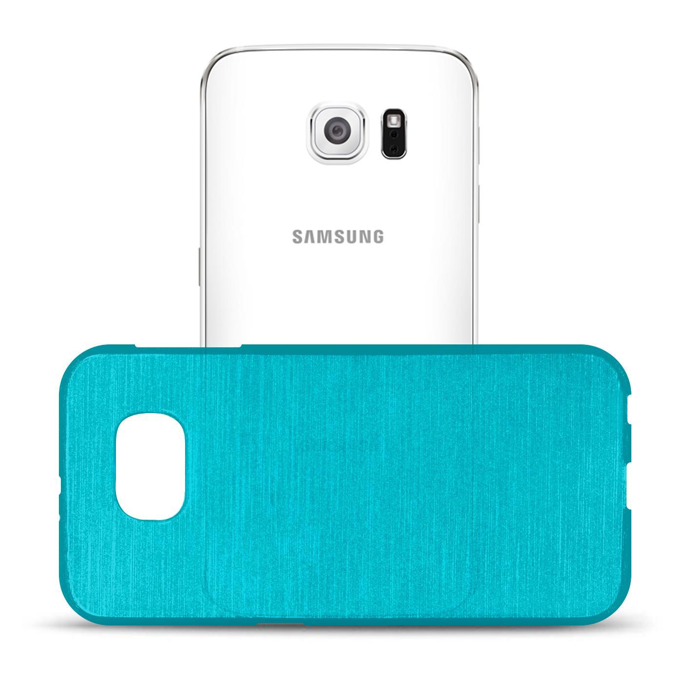 Silikon-Bumper-Case-fuer-Samsung-Galaxy-s6-duenne-ultra-slim-Stossfeste-Rueckschale Indexbild 12