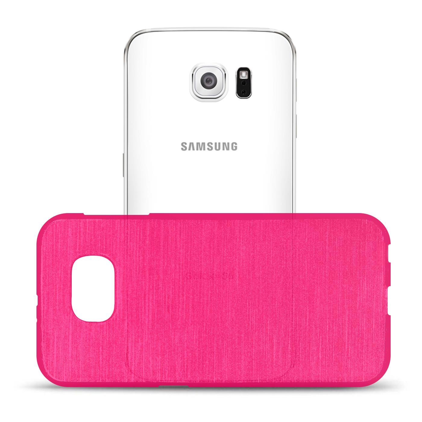 Silikon-Bumper-Case-fuer-Samsung-Galaxy-s6-duenne-ultra-slim-Stossfeste-Rueckschale Indexbild 32