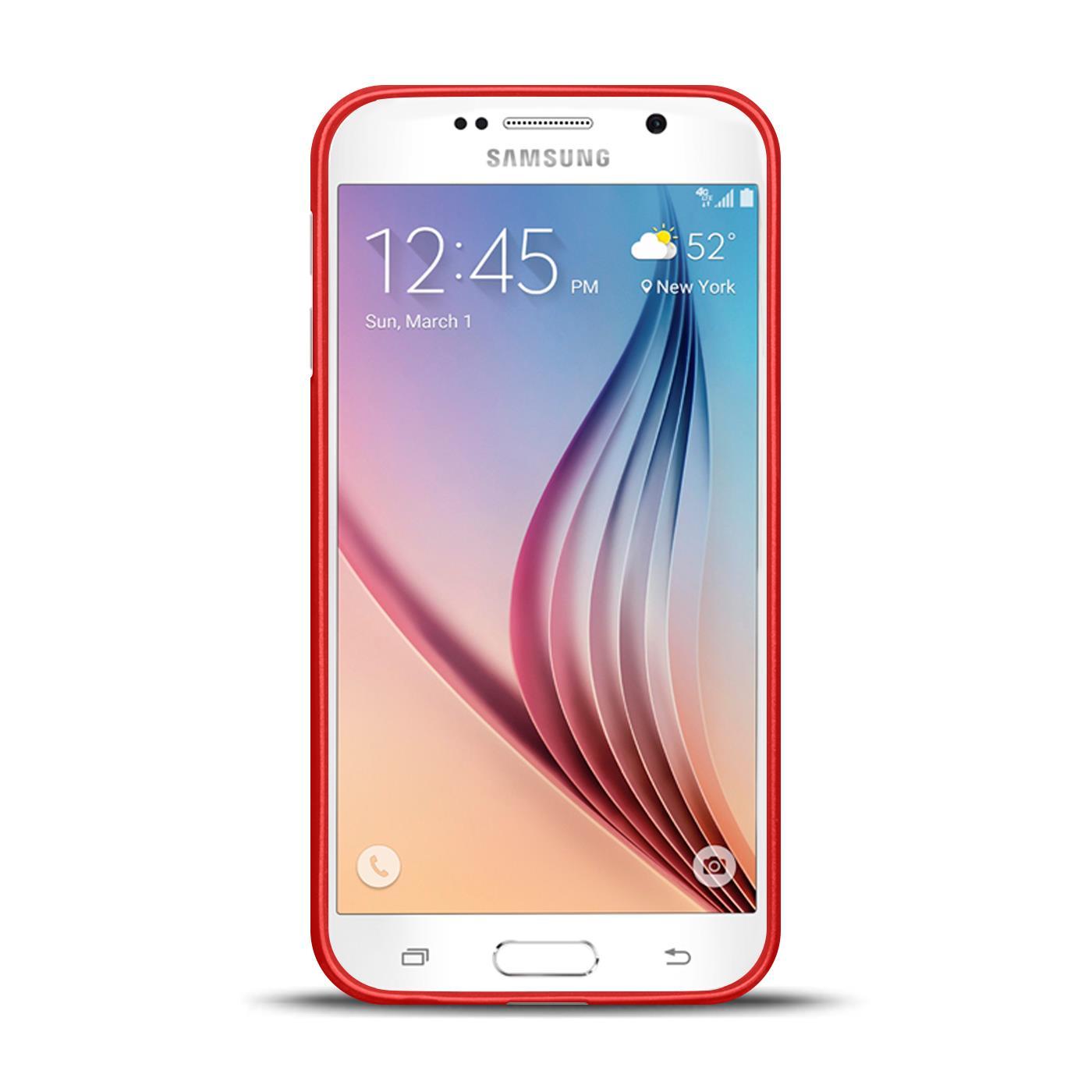 Silikon-Bumper-Case-fuer-Samsung-Galaxy-s6-duenne-ultra-slim-Stossfeste-Rueckschale Indexbild 35