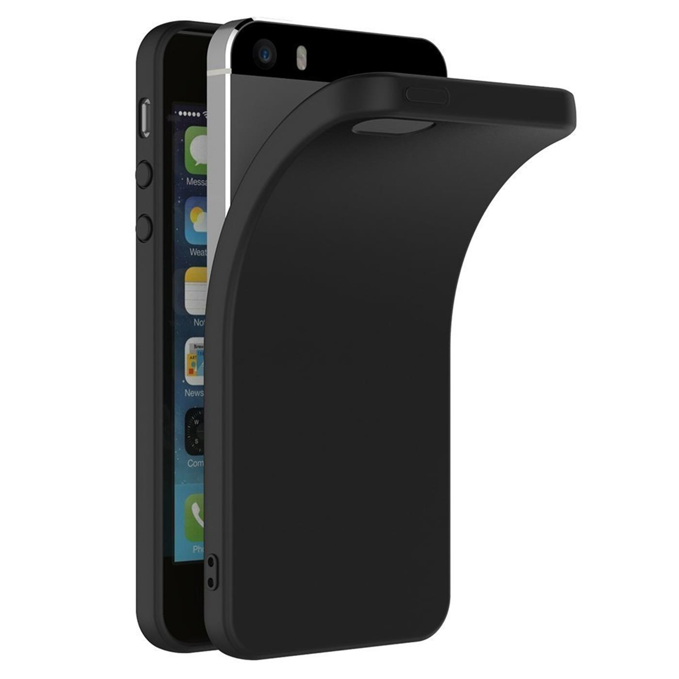 Slim-Black-Matt-Apple-iPhone-5-5s-SE-Shockproof-Silicone-Case-Thin-Cover-Back thumbnail 8