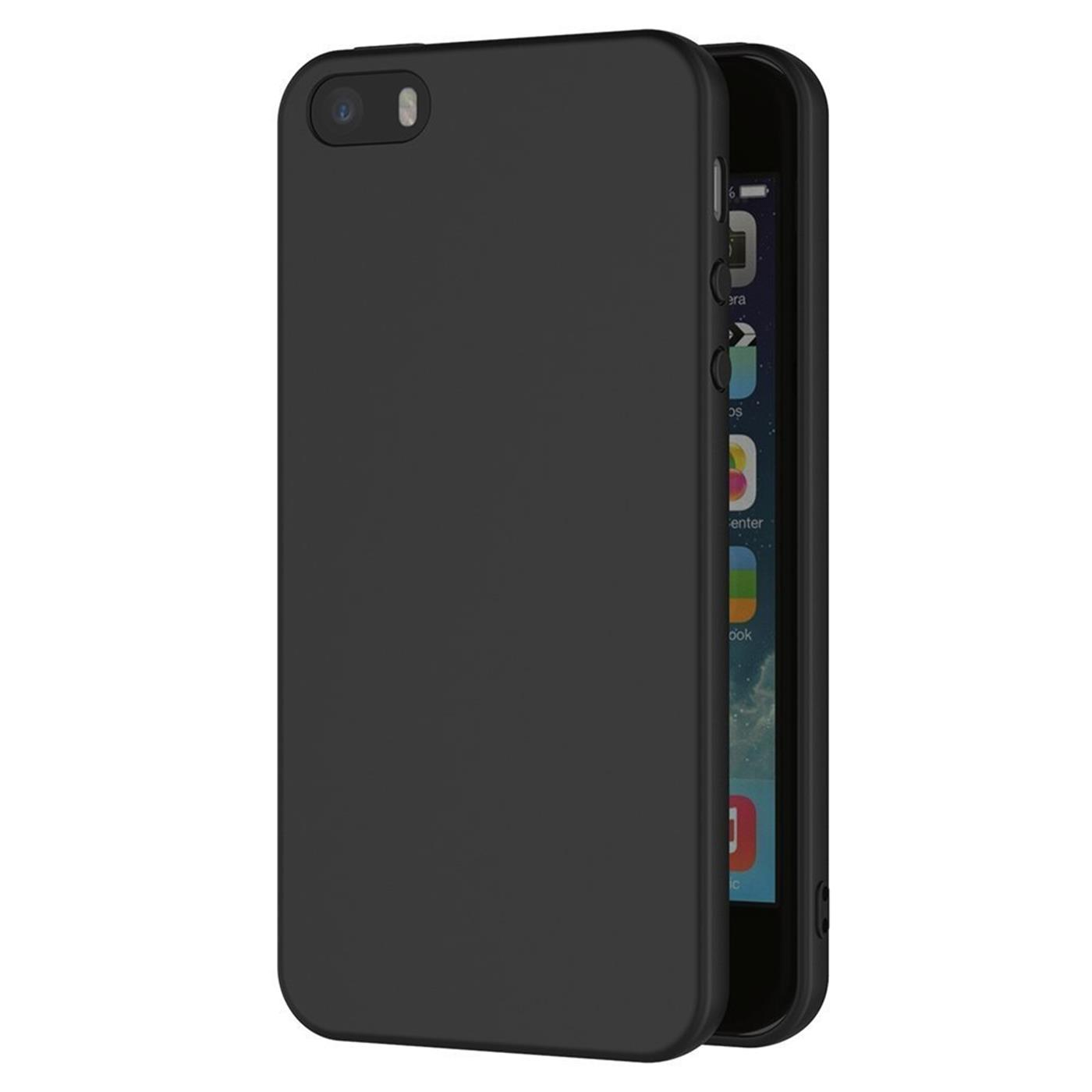Slim-Black-Matt-Apple-iPhone-5-5s-SE-Shockproof-Silicone-Case-Thin-Cover-Back thumbnail 9