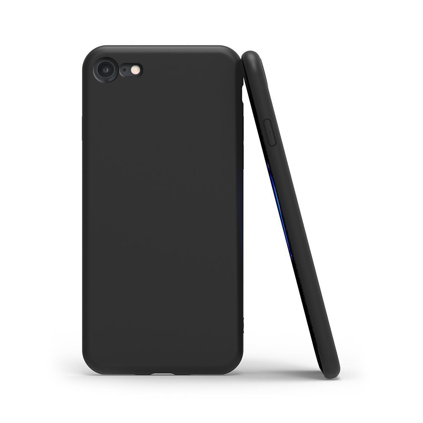 Huelle-iPhone-7-iPhone-8-Schutzhuelle-Handy-Huelle-Slim-Case-Weich-Matt-Schwarz Indexbild 9