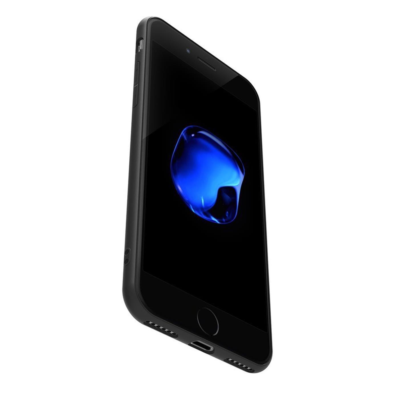 Huelle-iPhone-7-iPhone-8-Schutzhuelle-Handy-Huelle-Slim-Case-Weich-Matt-Schwarz Indexbild 10