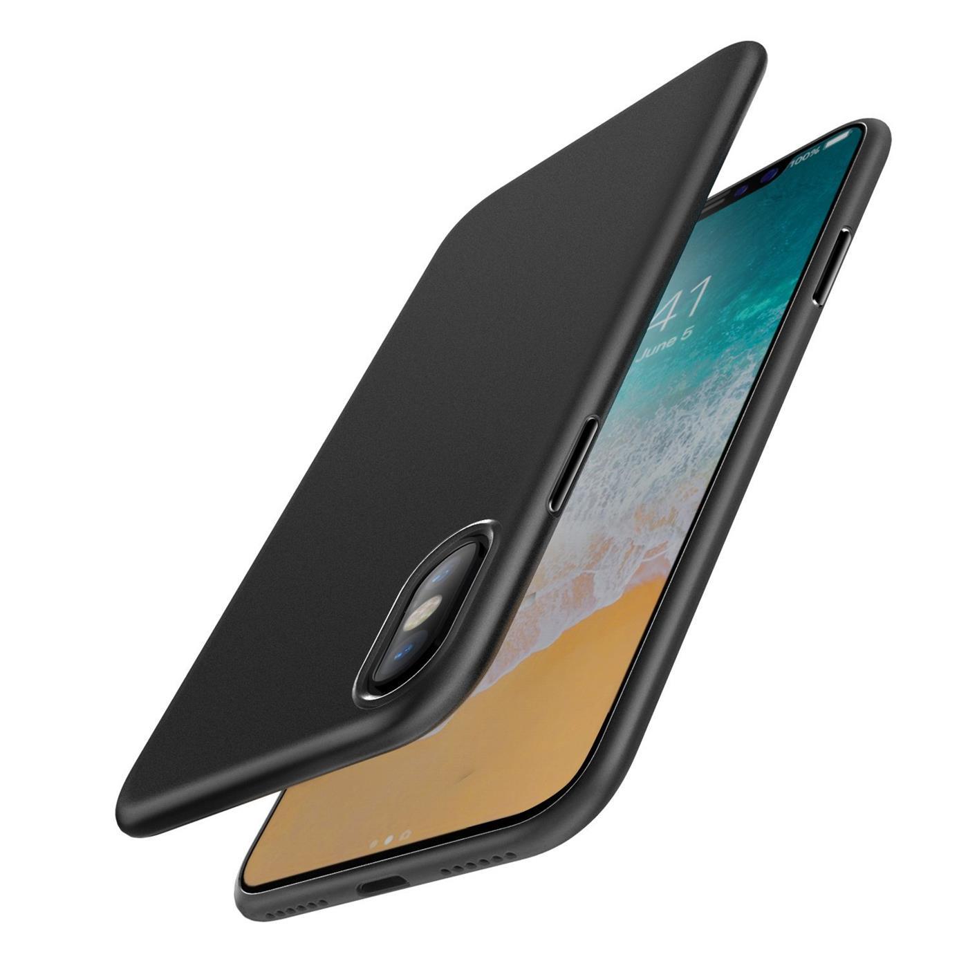 Slim Silikon Case Apple iPhone Schutzhülle Bumper TPU Cover Handyhülle Schwarz