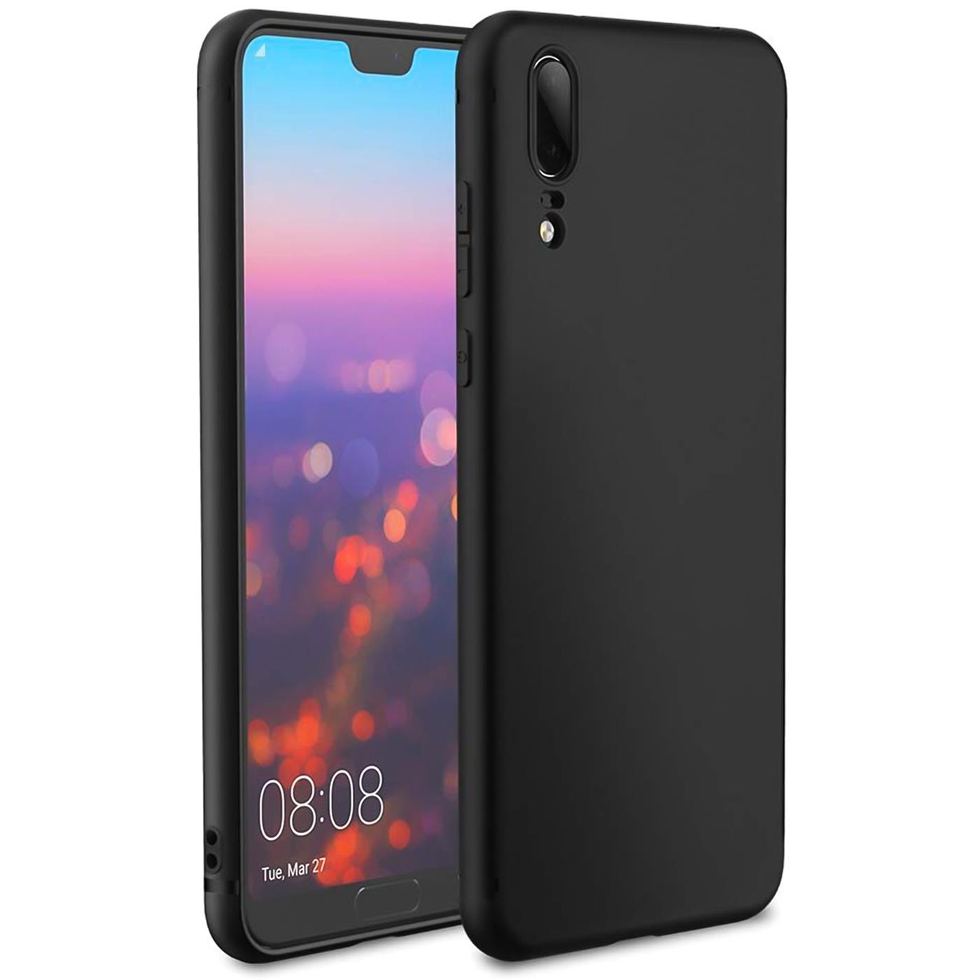 Ultra-Slim-Black-Matt-Huawei-P20-Shockproof-Silicone-Case-Thin-Cover-Back thumbnail 8
