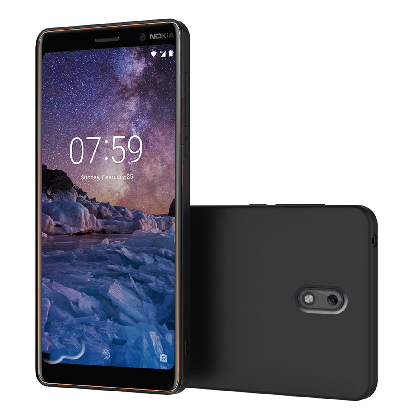 Huelle-fuer-Nokia-2-Schutzhuelle-Handy-Huelle-Slim-Case-Weich-Matt-Schwarz-TPU-Cover Indexbild 10