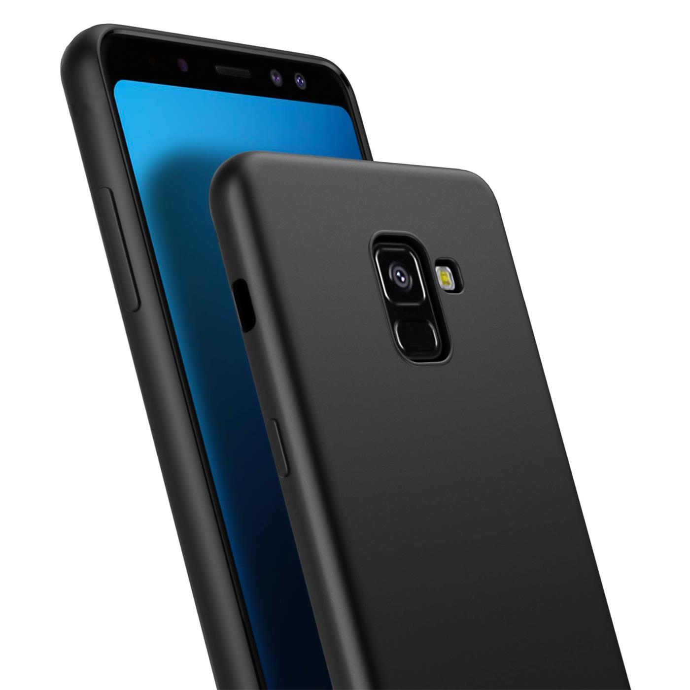 Huelle-fuer-Samsung-Galaxy-A8-Schutzhuelle-Handy-Huelle-Slim-Case-Weich-Matt-Schwarz Indexbild 9