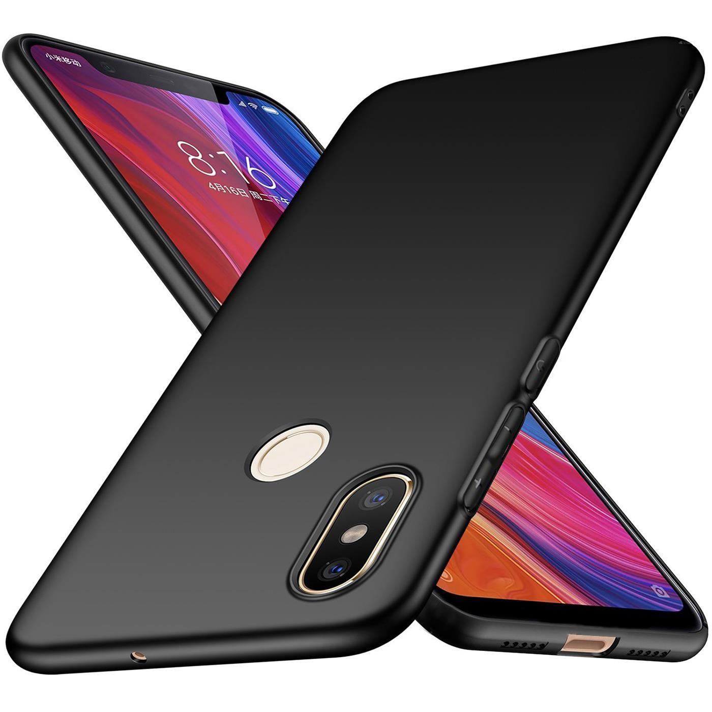 Huelle-fuer-Xiaomi-Mi-8-Schutzhuelle-Handy-Huelle-Slim-Case-Weich-Matt-Schwarz-Cover Indexbild 9