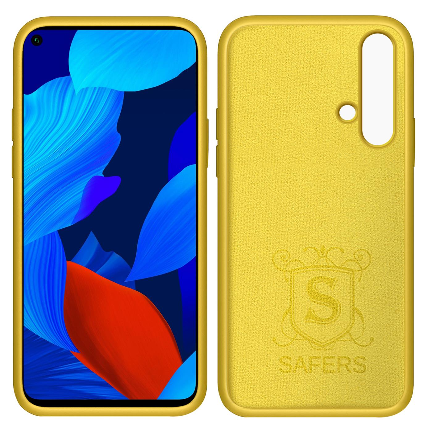 Huelle-Huawei-Nova-5T-Handy-Schutz-Cover-Silikon-Gel-Case-Handyhuelle-Tasche Indexbild 10