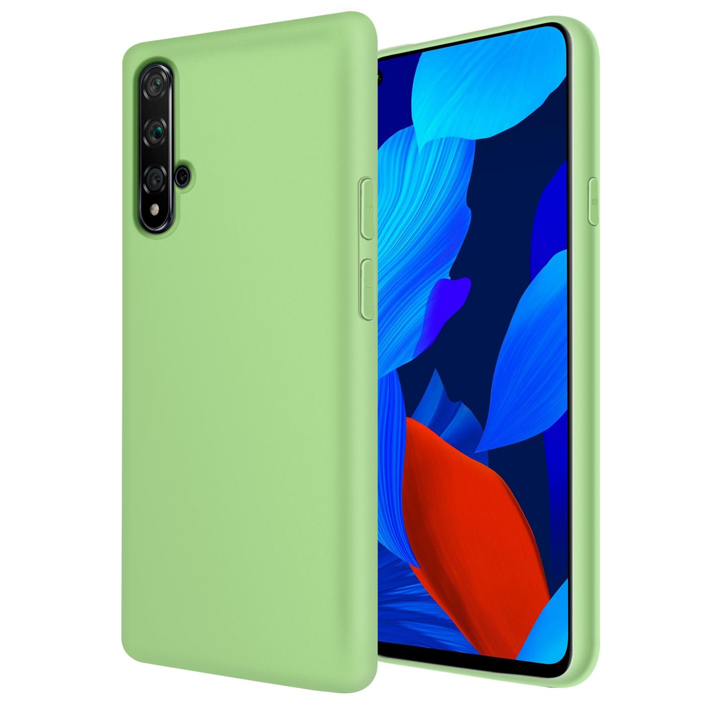 Huelle-Huawei-Nova-5T-Handy-Schutz-Cover-Silikon-Gel-Case-Handyhuelle-Tasche Indexbild 12
