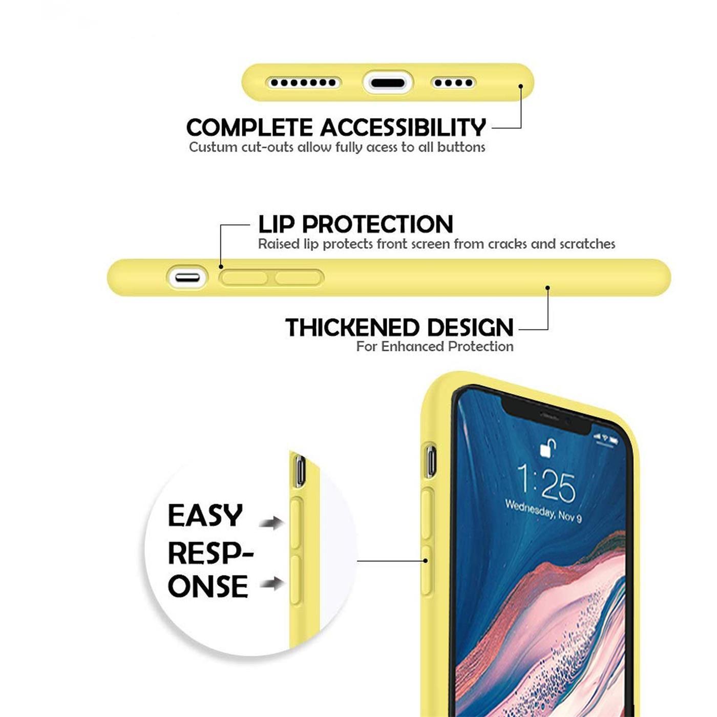 Silikon-Huelle-Schutzhuelle-Handy-Tasche-Handyhuelle-Slim-Case-Cover-Duenn-matt-Etui Indexbild 30