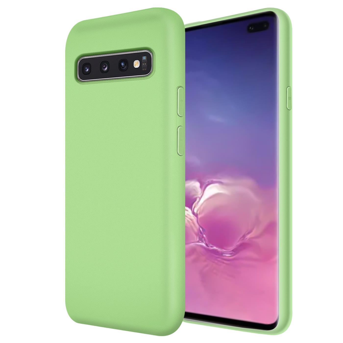 Huelle-Samsung-Galaxy-S10-Handy-Schutz-Cover-Silikon-Gel-Case-Handyhuelle-Tasche Indexbild 12
