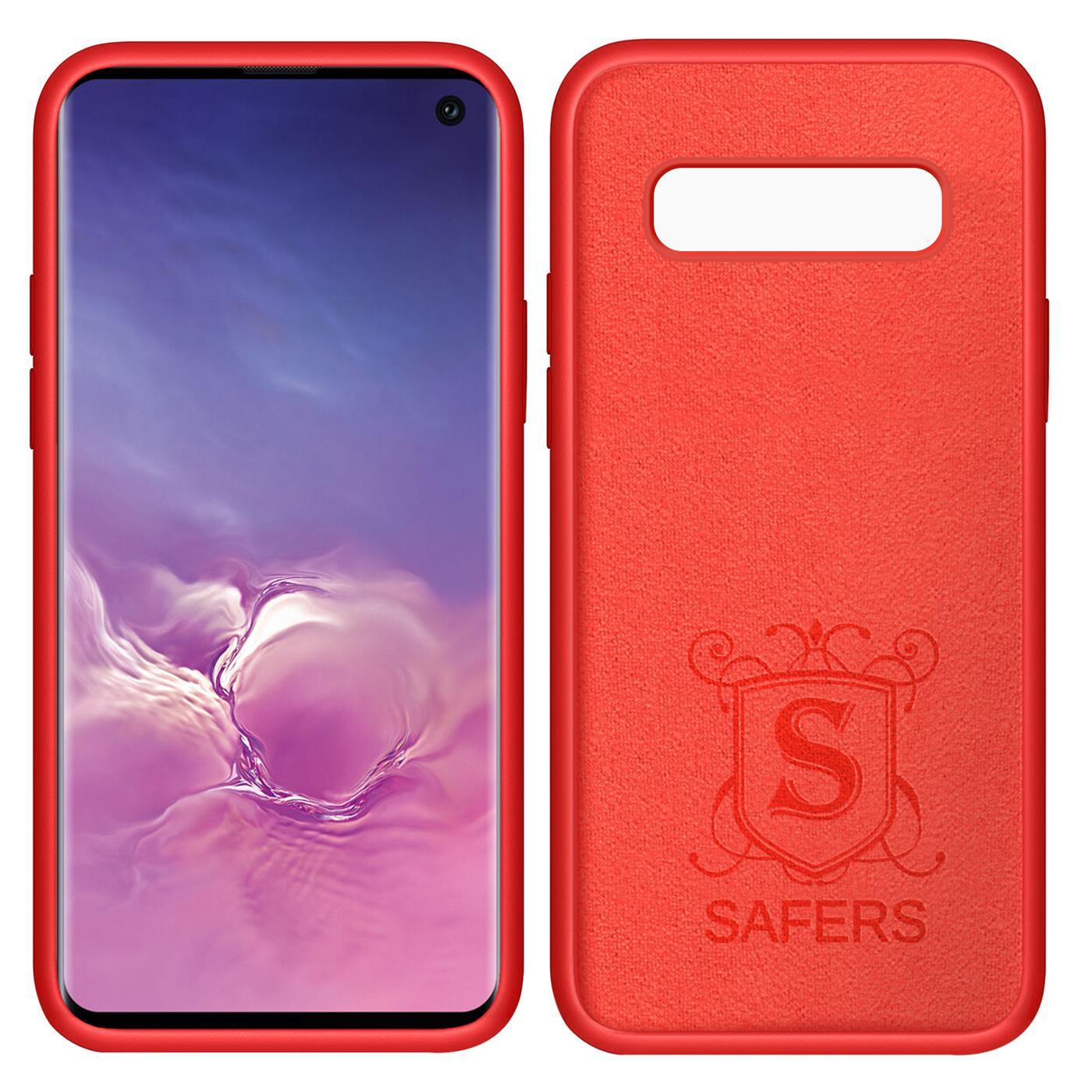 Huelle-Samsung-Galaxy-S10-Handy-Schutz-Cover-Silikon-Gel-Case-Handyhuelle-Tasche Indexbild 19