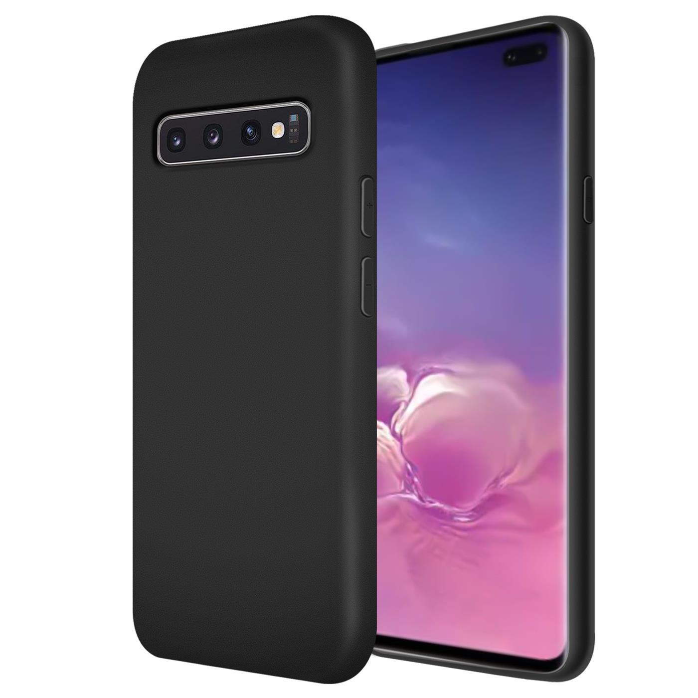 Huelle-Samsung-Galaxy-S10-Handy-Schutz-Cover-Silikon-Gel-Case-Handyhuelle-Tasche Indexbild 21