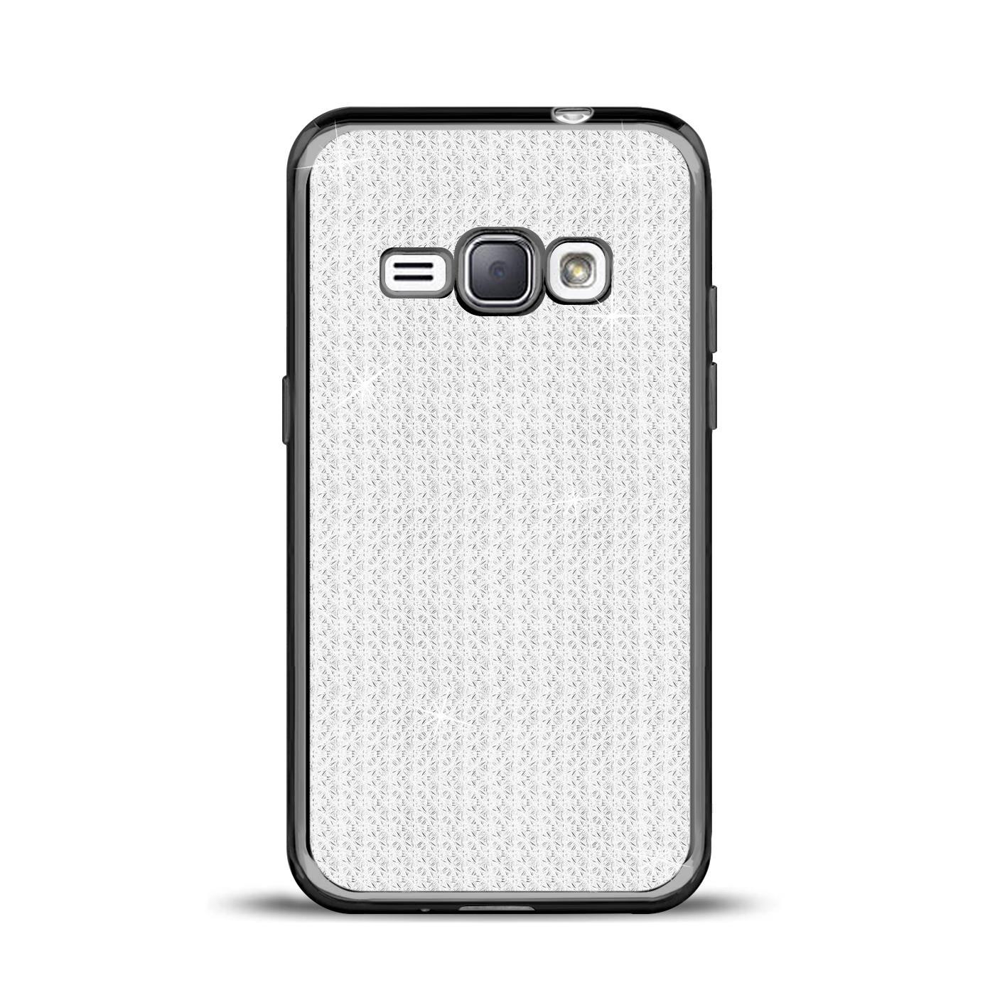 Handy-Etui-Samsung-Galaxy-J1-2016-Huelle-Glitzer-Silikon-Case-Schutz-Cover-Tasche Indexbild 3