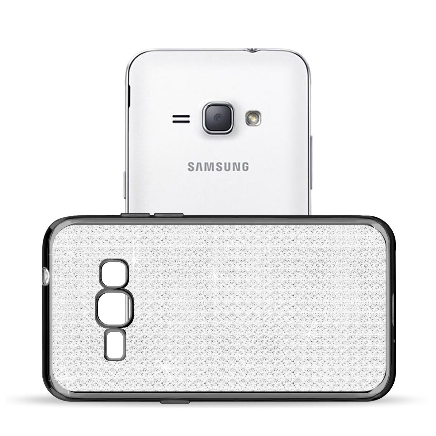 Handy-Etui-Samsung-Galaxy-J1-2016-Huelle-Glitzer-Silikon-Case-Schutz-Cover-Tasche Indexbild 4