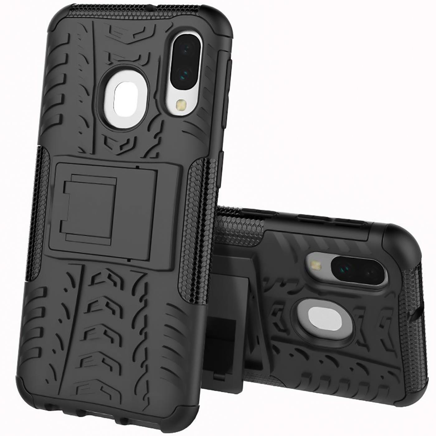 Schutzhuelle-Samsung-Galaxy-A20e-Handy-Tasche-Schutz-Huelle-Hybrid-Panzer-Case Indexbild 17
