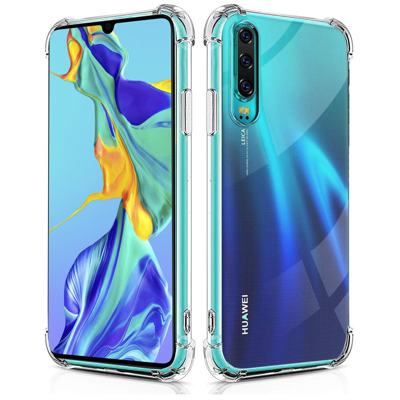 Huelle-fuer-Huawei-P30-Schutzhuelle-Anti-Shock-Handy-Case-Transparent-Cover Indexbild 9