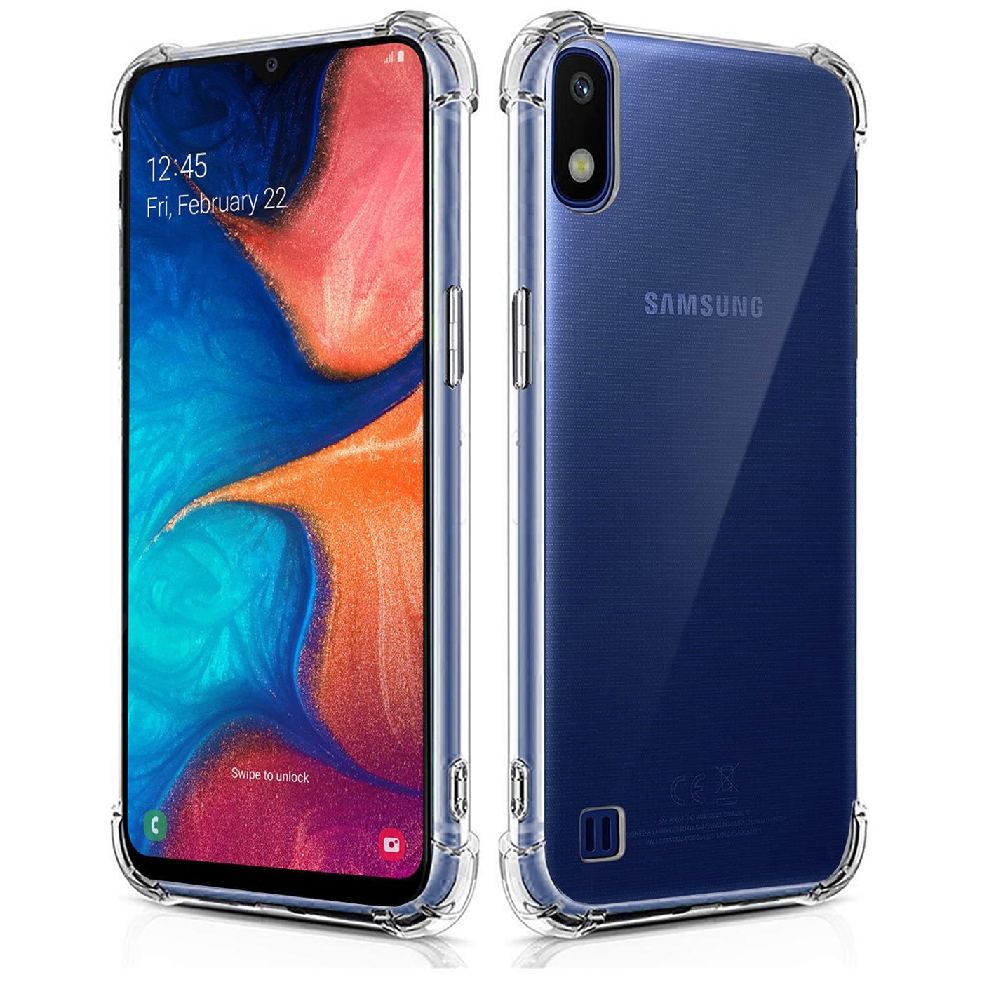 Huelle-fuer-Samsung-Galaxy-A10-Schutzhuelle-Anti-Shock-Handy-Case-Transparent-Cover Indexbild 9