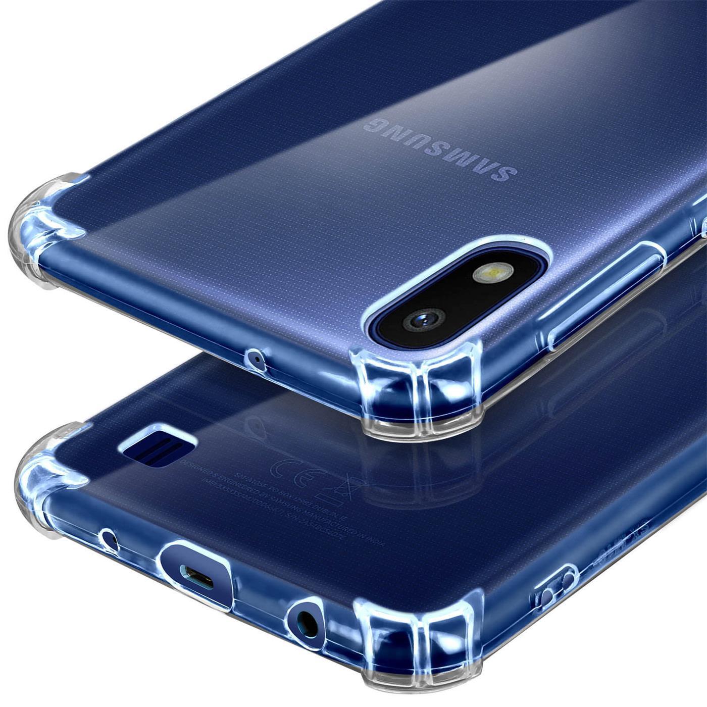 Huelle-fuer-Samsung-Galaxy-A10-Schutzhuelle-Anti-Shock-Handy-Case-Transparent-Cover Indexbild 10