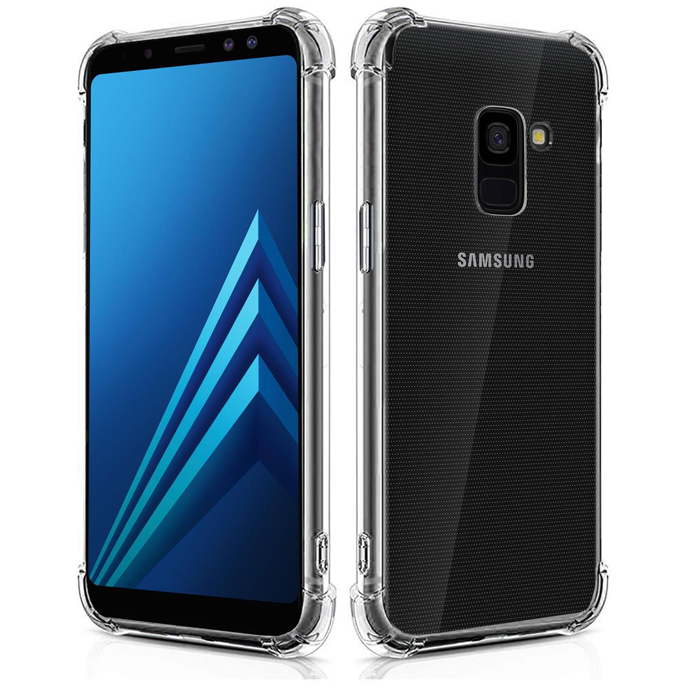 Huelle-fuer-Samsung-Galaxy-A8-Schutzhuelle-Anti-Shock-Handy-Case-Transparent-Cover Indexbild 9