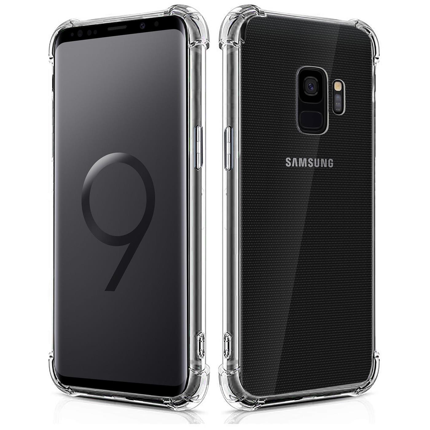 Huelle-fuer-Samsung-Galaxy-S9-Schutzhuelle-Anti-Shock-Handy-Case-Transparent-Cover Indexbild 9