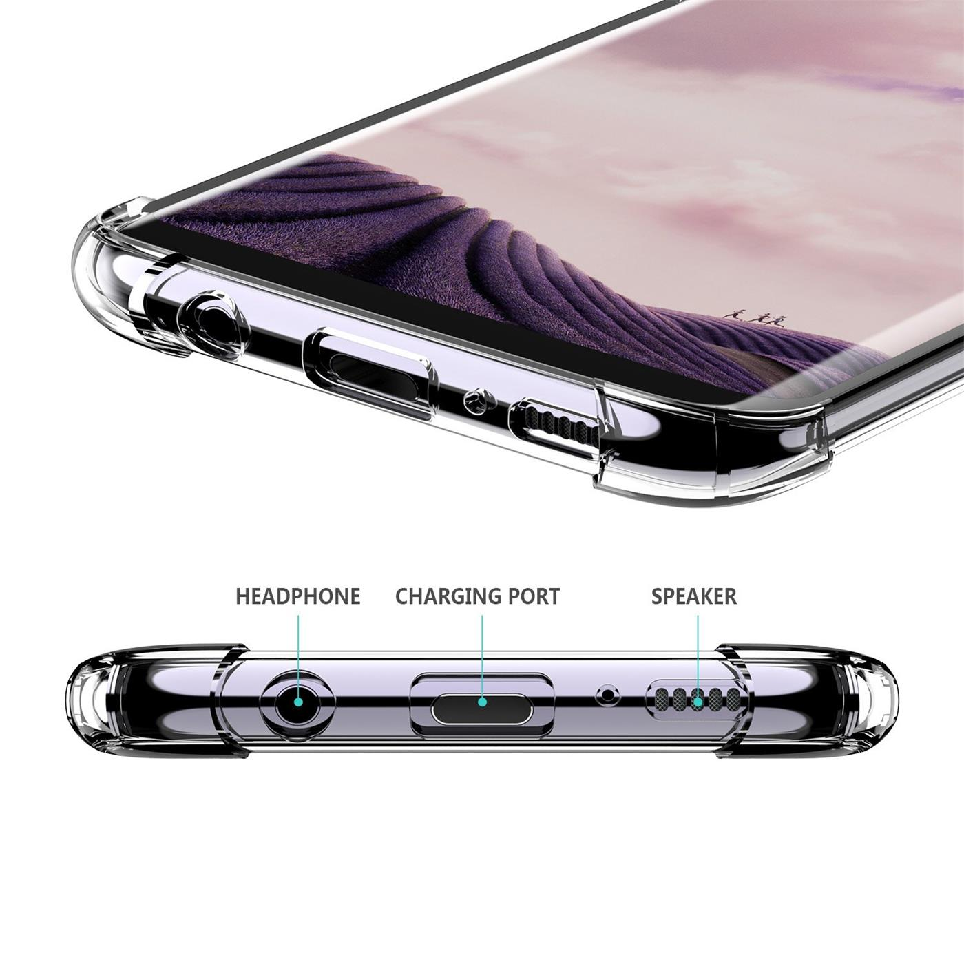 Huelle-fuer-Samsung-Galaxy-S9-Schutzhuelle-Anti-Shock-Handy-Case-Transparent-Cover Indexbild 10